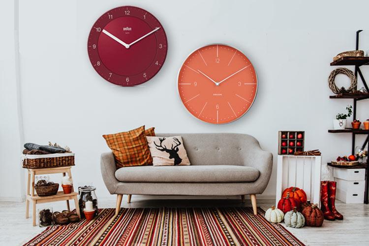 Orologi come decorazione autunnale